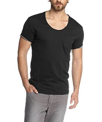 ESPRIT Collection Herren T-Shirt Slim Fit 043EO2K005, Gr. 56/58 (XL), Schwarz (001 black)