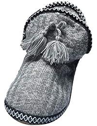 Sayla Zapatos Casual Moda De Los Hombres Invierno Zapatos De La Casa del Knit Botines De