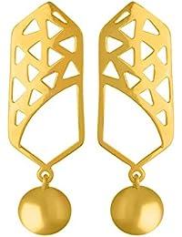 Voylla Drops & Danglers for Women (Golden)(8907617560762)