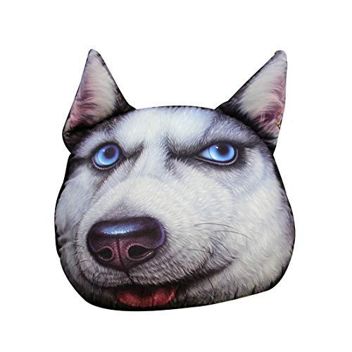 Lvguang Autokissen Kreatives 3D Cartoon Tierausdruck Kopfstütze Kissen Lendenkissen für Autos, SUVs, LKW, Reisen (Style#2, 33 * 38cm)