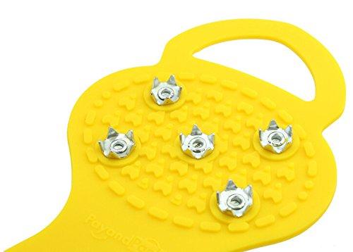 Fletion zucca tipo cinque rebbi antiscivolo Outdoor Ramponi antiscivolo Scarpe 5denti ramponi semplice punte con 5denti Red Yellow