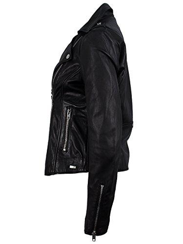 TIGHA Damen Lederjacke Vintage Black ALBA Neue Kollektion XL - 3