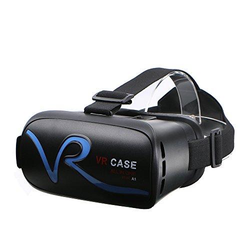VR Casque Casque de Réalité Virtuelle Bluetooth Lunette 3D pour les Films 3D Jeux vidéo Compatible IPhone 7 Android Samsung Galaxy Series et autres Smartphones 4.0-6.0 Pouces