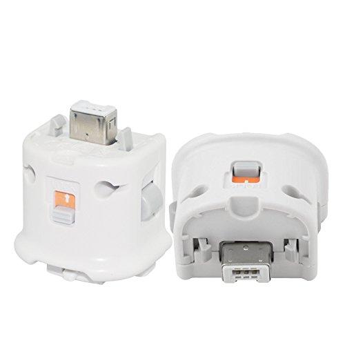 YiYunTE Remote Motion Plus Adapter für Wii Fernbedienung Externer Zubehör Motion Plus Sensor für Nintendo Wii U Wii Controller