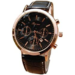 Bei nuo Men's Watch Gold Dial Black Case Top