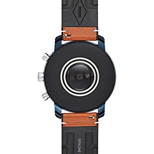 Fossil Mens Smartwatch with Leather Strap FTW4016