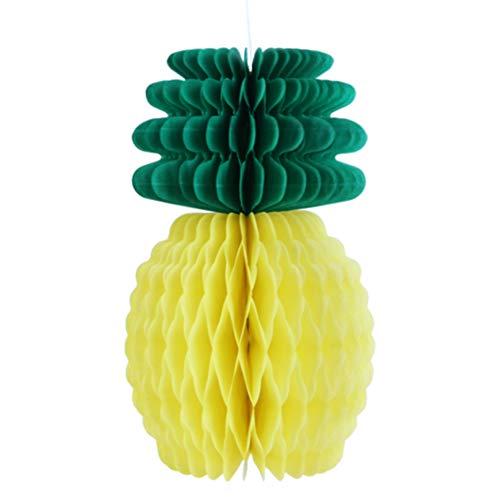 SUNBEAUTY Ananas Dekoration 5er Set Wabenbälle Obstform Dekoration (Ananas)