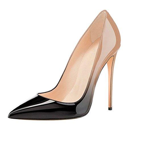 Soireelady donne elegante scarpe tacco alto scarpe a punta matrimonio serata di festa scarpe nude eu37