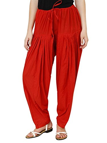 I Shop Women\'s Cotton Traditional Patiala Salwar, Free Size(Red, PATIALA-SALWAR-01234)