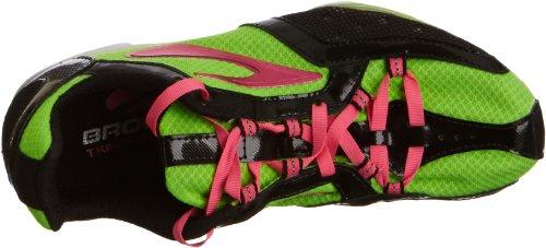 Brooks - Elmn8 W, Sneaker Donna verde (Grün (Green/Pink/Black))