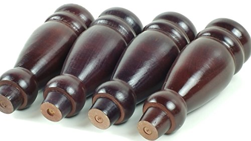 Knightsbrandnu2u Möbelfüße aus Massivem Holz, 200 mm Höhe, für Schubladen, Schränke, Bücherregale, Vorhangeinheiten und Schränke, Gewindestift, PKC341 X