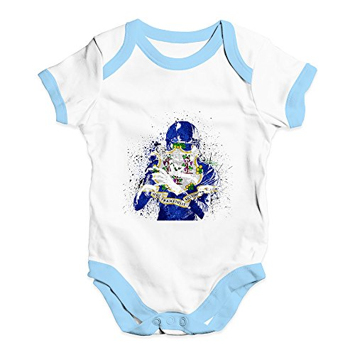 TWISTED ENVY Cute Infant Bodysuit Connecticut American Football Player
