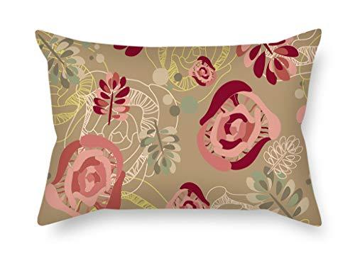 Beautifulseason Fleur Housses de coussin 40,6 x 61 cm/40, 60 cm de cadeau ou de décoration pour l'intérieur adolescents Boys Home Office Canapé Chaise longue - Double côtés