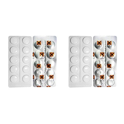 2er Pack AquinTobs Reinigungstabletten Kaffeefettlöser in Blister 10 x 1,6g / AQ57001 für...