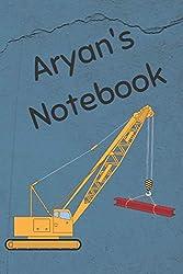 Aryan's Notebook: Heavy Equipment Crane Cover 6x9