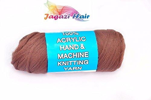 UK. Braun. brasilianisches Wolle Haar: Faux Schlösser, Zöpfe, Twist, stricken, Brasilien Wolle. Garn (Garn Twist Zöpfe)