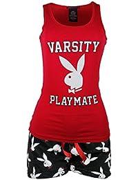 Playboy Sleepwear Womens Tank Top and Fleece Shorts Set