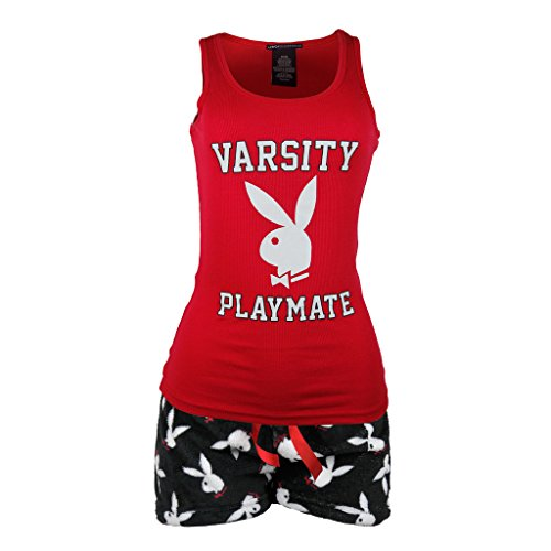 playboy-sleepwear-womens-tank-top-and-fleece-shorts-set-small
