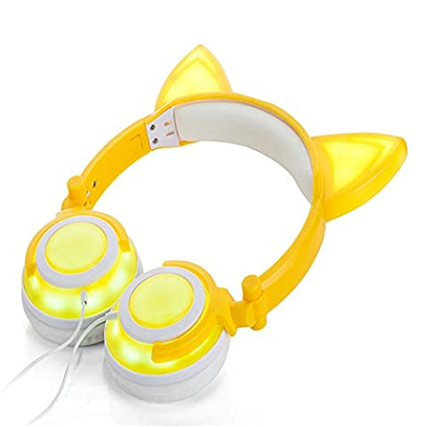 Disco Porter Costumes - CAT Écouteurs intra-auriculaires, Wired On-Ear Gaming lumières