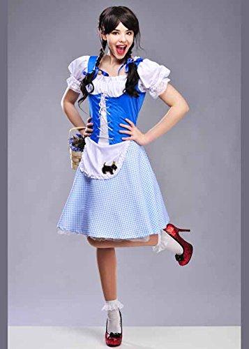 Magic Box Int. Erwachsene Damen Lange Länge Dorothy Kostüm XL (UK 20-22) (Dorothy Kostüm Lange)