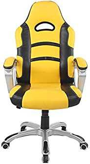 Racoor Video Gaming Chair, Black and Yellow - H 123 cm x W 52 cm x D 49 cm