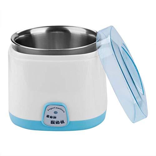 220V 1L Yogurt Elettrico Macchina Eletrodomestico Fai da Te Rivestimento in Acciaio Inox Kithchen Elettrico Yogurt Beker (Colore : Blu)