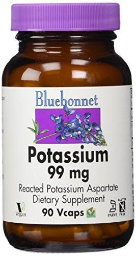 Bluebonnet Nutrition, Aspartate de potassium, 99 mg, 90 Capsules végétales