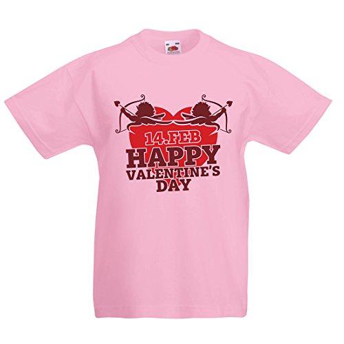Kinder T-Shirt Nette Valentinstag Geschenkideen, Lassen Sie Amors Pfeil Finden Sie Ihren Liebsten (3-4 Years Pink Mehrfarben)