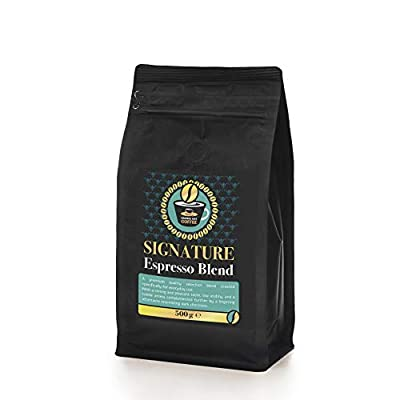 ORANGE HAT COFFEE Signature Espresso Blend - 500g of Espresso Beans Low Calorie, Low Acid Espresso Coffee Drink - Suitable for All Espresso Coffee Machines from Orange Hat Ltd