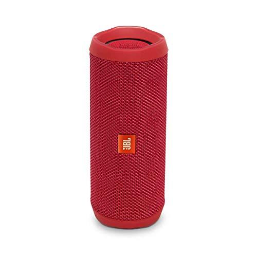 JBL Flip 4 Bluetooth Box in Rot – Wasserdichter, tragbarer Lautsprecher mit Freisprechfunktion & Sprachassistent – Bis zu 12 Stunden Wireless Streaming mit nur einer Akku-Ladung