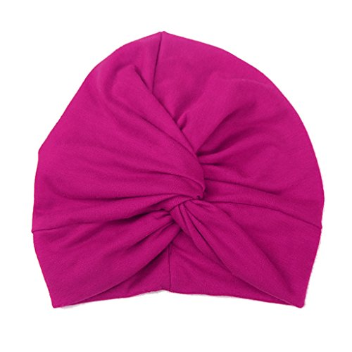 Haorw Baby Mütze Neugeborene Weich Baumwolle Turban Kleinkind Stirnbänder Baby Mädchen Stirnband (Pink)