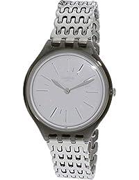 1f8bff28398b Swatch Skinparure SVOM104G Silver Stainless-Steel Swiss Quartz Fashion Watch