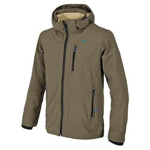 CMP Softshell Outdoor Jacke Herren l Franco, Farbe:Wood-Sand, Größe:S / 48