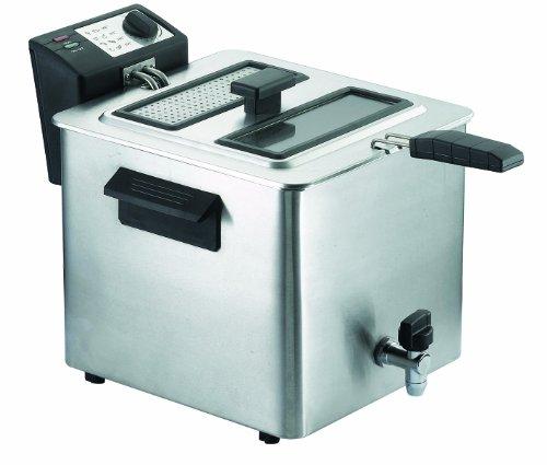Rgv fry type friggitrice con rubinetto, 8 litri