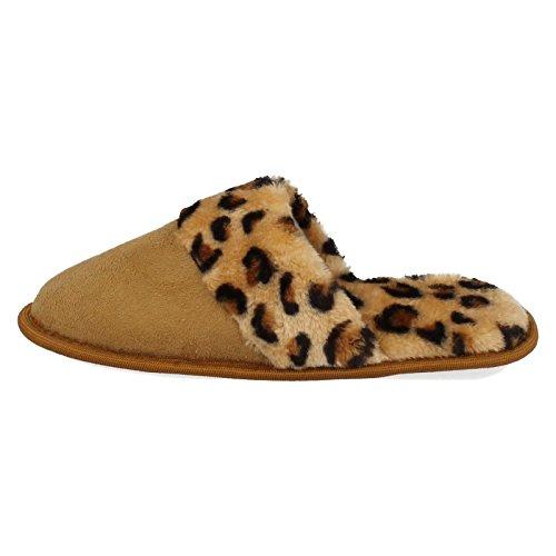 Pantofole Donne Muli Sul Leopard Punto Leopard Tan PSpExnqwt
