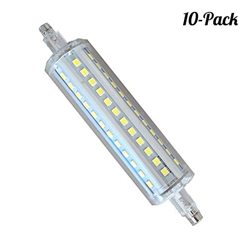 10w-kandelaber (R7S LED Birne 10W 118mm Linear Licht 360 Grad Warmweiß 2700K-7000K 22mmx 118mm Entspricht R7S 118mm 110W Halogenlampe 85V-240V AC 1000LM, 10er Pack,B)