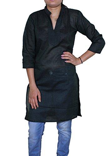 Donne camicette estive al ginocchio casuale camicie sciolte tunica top bollywood -m