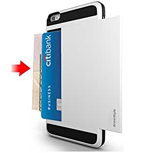 Best iPhone 6/6s ID Case ★ Thinnest Wallet Case ★ iPhone 6s Card Case ★ Hidden ID Holder ★ Cash, 2 Cards/IDs ★ Stylish ★ Pocket Friendly ★ Buy Best iPhone 6 ID Case - ArmorStyle Slim Slide (White)