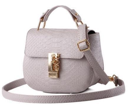 HQYSS Damen-handtaschen Koreanische kleine frische Runde Form PU Leder Frauen Schulter Handtasche Messenger meters white
