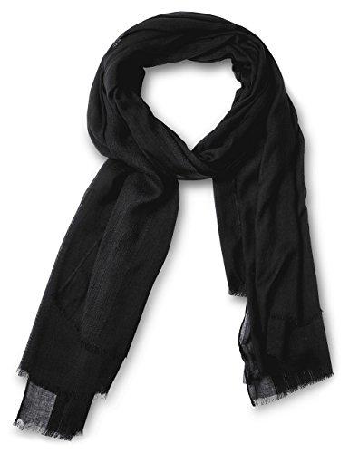 Street One Damen Schal 570422 Schwarz (Black 10001), One size (Herstellergröße: A)