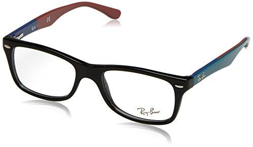 Ray Ban Brillengestell RX5228 5014 50-17 Wayfarer Stil, schwarz/texture