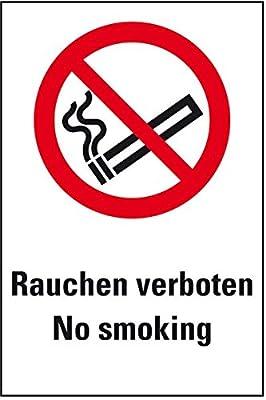 LEMAX® Verbots-Kombischild Rauchen verboten - No Smoking, ASR/ISO, Folie, 200x300mm
