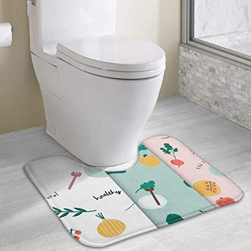 U-förmiges WC Bodenteppich Rutschfeste Toilette Teppiche Duschmatte ()