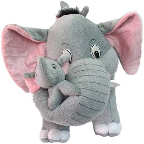 """Prime Teddy Grey Mother Elephant with Two Baby Stuffed Soft Plush Toy (40 CM/15"""")"""