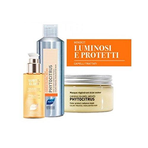 Phyto Minikit Capelli Colorati Shampoo 50 ml+ Maschera 50 ml+ Olio 30 ml