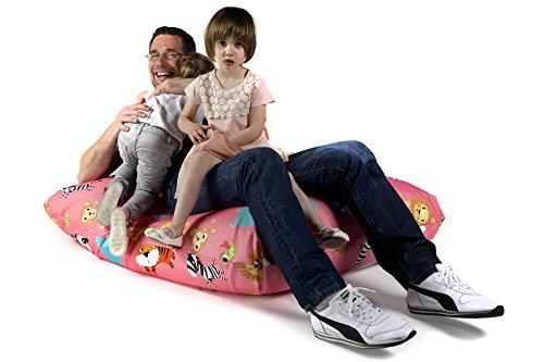 Sitzsack XL Tuli Sofa Made in EU Manufaktur Sessel - mit extra starken Nähten verschiedene Farben und Motiven - 100% Polyester - ZOO Tiere