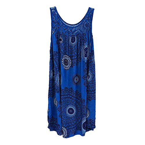 XuxMim Damen Kleid Retro 1920s Stil Flapper Kleider voller Pailletten Runder Ausschnitt Great Gatsby Motto Party Kleider Damen Kostüm Kleid(Himmelblau,X-Large)