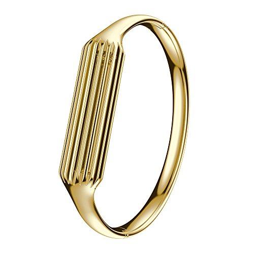 XIHAMA Fitbit Flex 2Armband, Edelstahl Ersatz Band Gurt Flex 2Sport Armbanduhr, Metall Armreif Frauen, Mädchen Lady