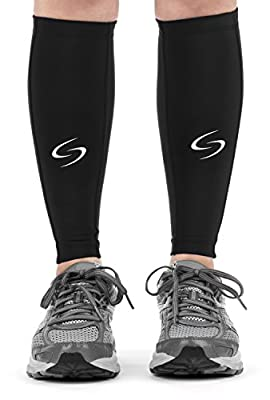 Calf Compression Sleeves - Compression Leg Sleeves (1 Pair) / Calf Guards for Running, Cycling, Basketball & CrossFit – Premium Compression Support Stockings for Women and Men