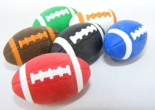 Iwako durch Themen 6 Farben amerikanischen Footballs Rugby Radierer (6 Stück) aus Japan